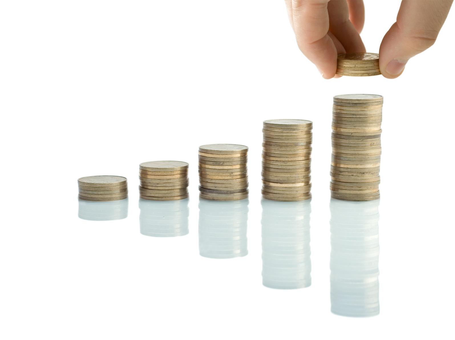 pile de pièces, argent