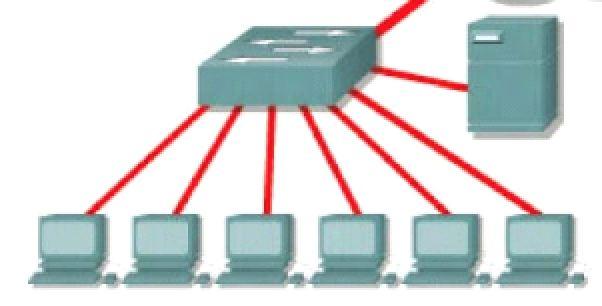 réseau commutateur connexion