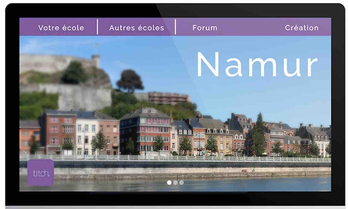 écran, enseignement, programme Namur