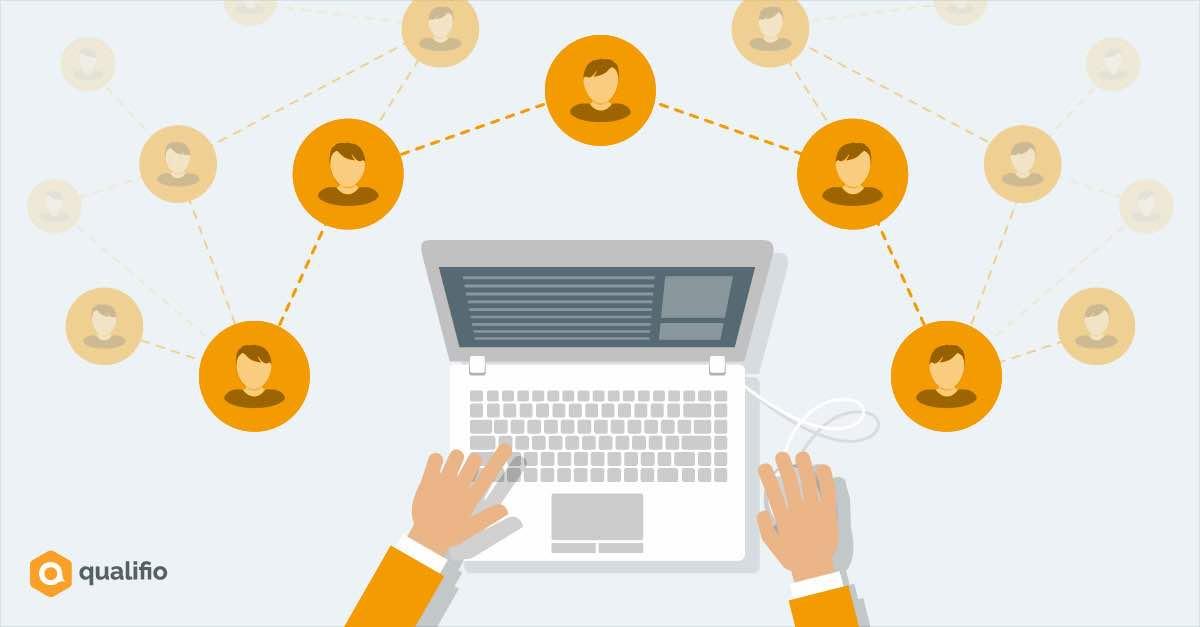 Qualifie communauté Internet clavier