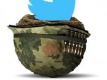 oiseau Twitter sur casque militaire