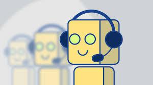 robot virtuel, support clientèle, casque