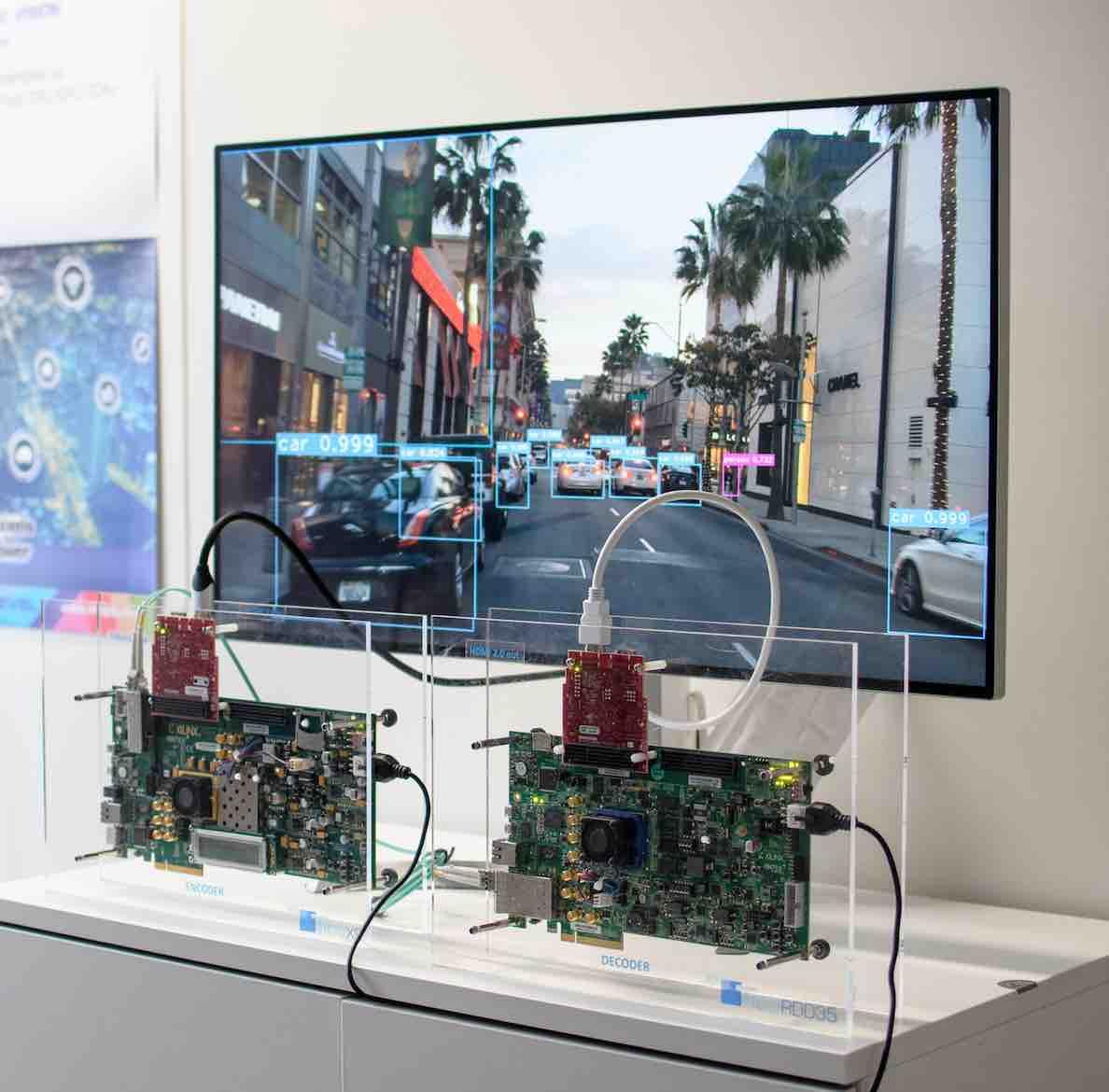 jpeg xs by intopix compression image cran tv avec voiture autonome regional it toute l. Black Bedroom Furniture Sets. Home Design Ideas